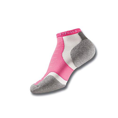 Thorlo Experia No Show–Socken–Unisex S Electric Pink (Herren-walker Graue)