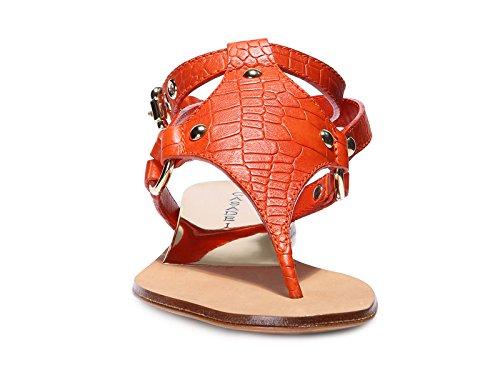 Casadei Sandali Infradito Rio in Pelle Paprika - Codice Modello: 8858V211 FW5RIO 874 arancio