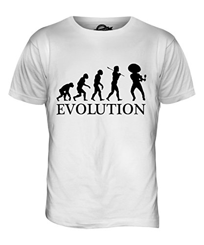 CandyMix Mexikanische Tänzer Evolution Des Menschen Herren T Shirt Weiß