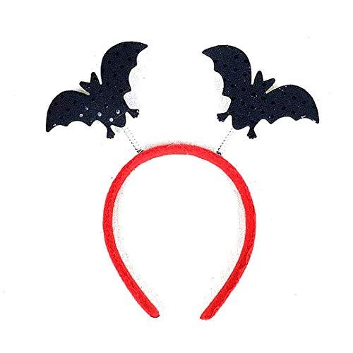 Halloween Stirnbänder Spielzeug Fledermaus Geister Stirnband Zubehör für Party & Halloween & Karneval Fledermaus 1 Stück Schwarz