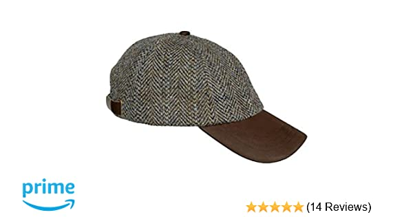 e4f8df6affa Hoggs of Fife Harris Tweed Baseball Cap  Amazon.co.uk  Clothing