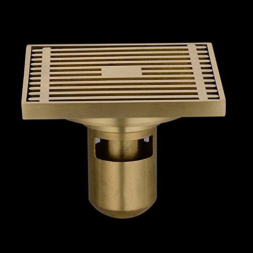 Dickkupfer-Deo-Bodenablauf, gelber,runder Boden, zum Einmalgebrauch (50 oder mehr) - Bronze Stopper Assembly