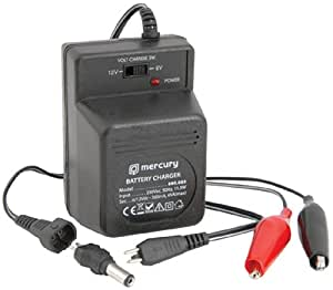 Mercury Skytronic 6-12 V 500 mAh Plug-In Lead Acid Battery Charger