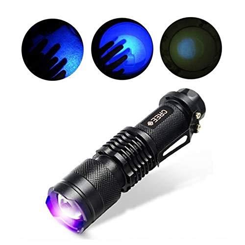 LLMLCF UV-Taschenlampe für den Außenbereich, 365nm, Violett/Schwarz