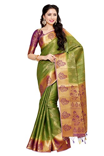 Mimosa By Kupinda Art Silk Saree Kanjivaram Style Color: Violet (4045-178-2D-OLV-MEJ)
