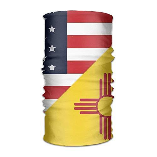 (Unisex Stylish USA New Mexico State Flag Quick Dry Microfiber Headwear Outdoor Magic Bandana As Neck Gaiter Head Wrap Headband Scarf Face Mask Ultra Soft Elastic One Size)
