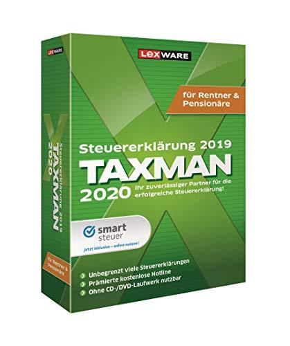 Lexware Taxman 2020 für das Steuerjahr 2019|Minibox|Übersichtliche Steuererklärungs-Software für Rentner und Pensionäre