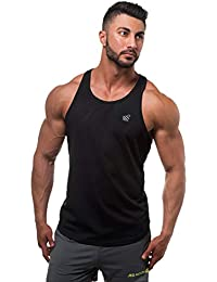 eac45df8666d49 Jed North Men s DRI-FIT Microfiber Bodybuilding Stringer Tank Top  Weight-training Y-