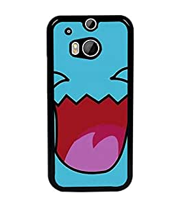 PrintDhaba Cartoon D-2413 Back Case Cover for HTC ONE M8 (Multi-Coloured)