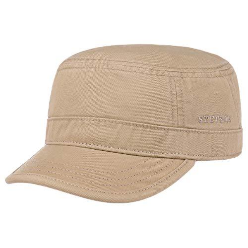 Stetson Gosper Army Cap Military Style Baumwollcap Kappe Urbancap Armycap (XXL/62-63 - Dunkelbeige) (Xxl Hut Militär)