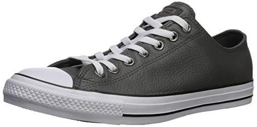Converse Herren Chuck Taylor All Star Leather Turnschuh, Carbon Grey/White/Black, 43 EU