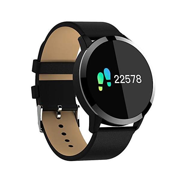 Pulsera deportiva Smart Smartwatches,rastreador de actividad física,Podómetro/Detección de frecuencia cardíaca/Anti-perdida/Recordatorio de tareas/Mensaje telefónico,Smartwatch mujeres hombres,Gold 4