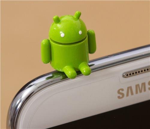 Android Roboter Handy Stöpsel Kopfhörer Stecker Schmuck