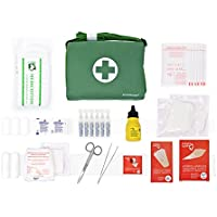 Botiquín BANDOLERA de primeros auxilios con 85 ARTÍCULOS indispensables para realizar curas de emergencia