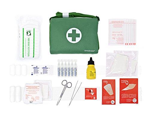 41EOkLGiSGL - Botiquín BANDOLERA de primeros auxilios con 85 ARTÍCULOS indispensables para realizar curas de emergencia