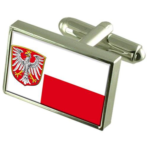 Frankfurt am Main Stadt Deutschland Fahne Manschettenknöpfe graviert Box