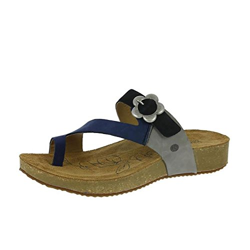 Josef Seibel Ladies Tonga 23 Plateausandalen Bleu (blue-multi)