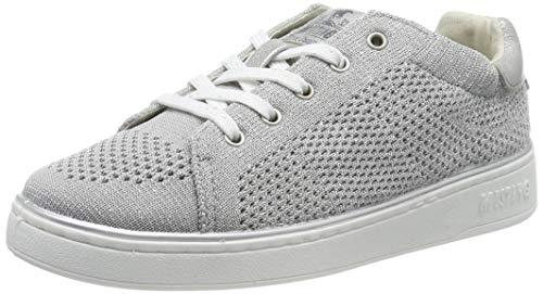 MUSTANG Mädchen 5053-303-21 Sneaker, Silber 21, 34 EU
