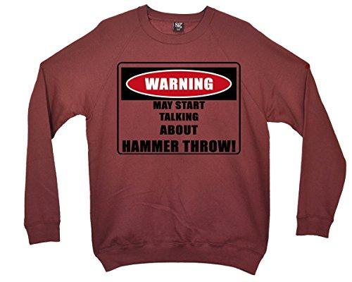 Minamo Warning/Hammer Throw! Sweatshirt - Burgund - 5/6 Jahre