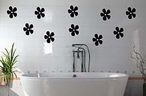 Piastrelle adesivo piastrelle decorazione{10} fiori finestre da bagno piastrelle fiori colore decorativo (colore inviare in un messaggio tramite Amazon, colori vedi tabella foto)