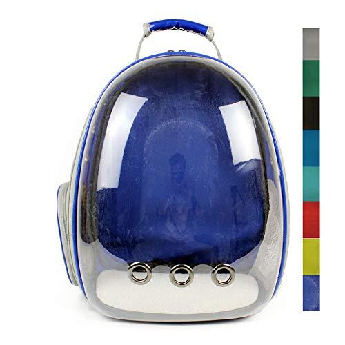 DCRYWRX Pet Space Rucksack, Pet Puppy Tragetasche Space Capsule Transparenter Atmungsaktiver Rucksack Atmungsaktives 360 ° Sightseeing (8 Farben),C