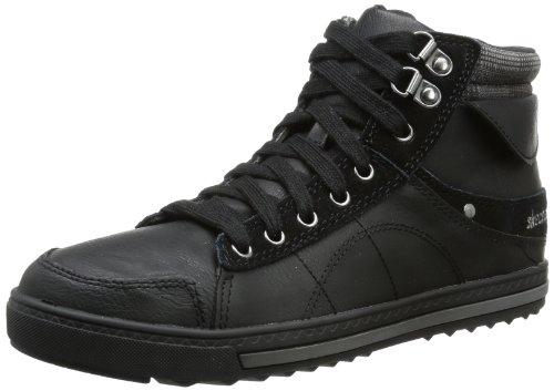 Skechers KicksCheck Yo Self - Botas Chukka de material sintético mujer, color negro, talla 36