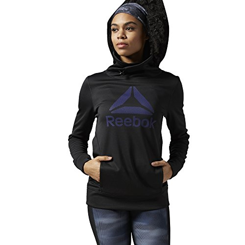 reebok-womens-workout-ready-pullover-hoodie-black-white-small