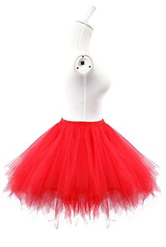 Ellames Damen 50er Vintage Petticoat Party Dance Tutu Rock Ballkleid Blau