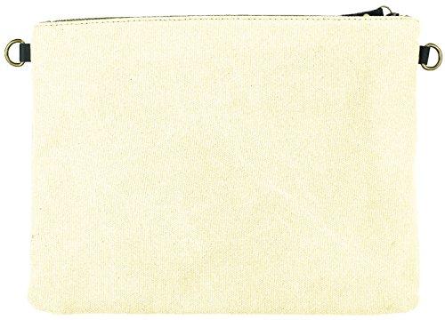 Mevina Damen Clutch Rosen Patches kleine Tasche Aufnäher Patch Canvas Tasche Umhängetasche viele Farben �?32x25x5 cm (B x H x T) Grau