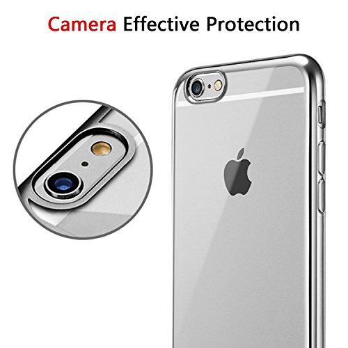iPhone 6S Plus Étui transparent, iPhone 6Plus, iPhone 6Coque bumper iPhone 6S, film protecteur d'écran, plaqué plaqué Ultra Fine en TPU Housse de protection cas, Specail Look pour votr