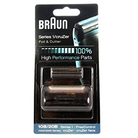 Braun 10B 20B Foil Cutter Head Pack for 1000 / 2000 Series Electric Shavers by Braun