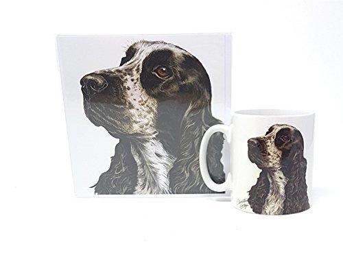 Ensemble 2 pièces Cocker Spaniel CHIEN TOUTOU fabriqué en Royaume-Uni Tasse en céramique mug pot accueil anniversaire carte de Noël