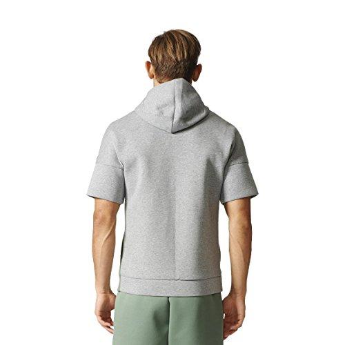 adidas Herren Zne Hood Rec Pe Sweatshirt Grün (Vertra/Brgrin)