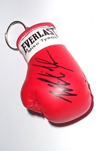 boxing memorabilia Signiert Mini Boxhandschuh Schlüsselanhänger Mike Tyson