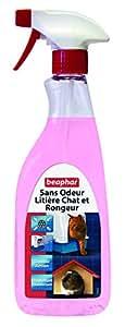 Beaphar - Sans Odeur, désodorisant désinfectant - litière chats et rongeurs - 500 ml