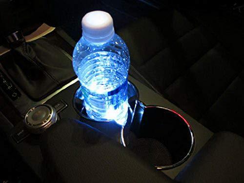 Preisvergleich Produktbild Edited LED Auto Cup Halter 3 SMD Lichtleisten LED Getränkehalter Aschenbecher Streifen leuchtet Brilliant Red Lights Innenatmosphäre Lampen Dekoration