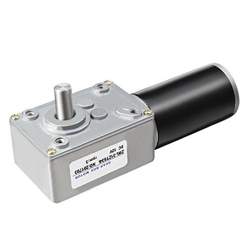 Aexit 12 V DC 3 U/min Hohe Drehmoment elektrische Leistung Geschwindigkeit verringern Turbine Wurm Getriebe Motor