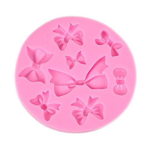 Lovemay 1Pcs Pink Bow Shaped Silikonformen wiederverwendbar für die Herstellung von Schokoladenkuchen und andere Dessert