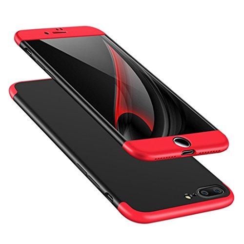 "JEPER Huawei P10 Cover, Custodia Huawei P10 360 Gradi Ultra Sottile Cassa 3 in 1 Duro PC Case Rigido Elegante Shock-Absorption e Custodia per Huawei P10/ P10 Plus (Huawei P10 5.1"", Nero+Rosso)"