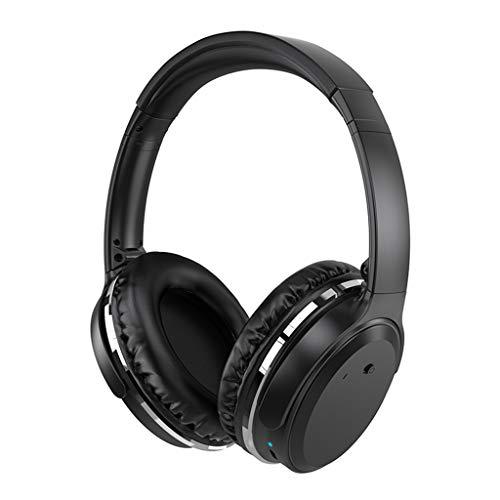 Bluetooth Kopfhörer Wasserdicht in Ear Stereo-Ohrhörer, Gaming Headset Stereo Rauschunterdrückung Kopfhörer Headset FM Mic HI-FI-Klangqualität mit hoher Auflösung Kopfhörer Race Sport Headset (Black)