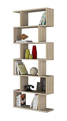 Habitdesign 301011F - Estanteria Athena Alta, libreria Abierta Salon, 80 x 25 x...