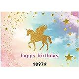 Uonlytech 150x210cm Unicorn Photo Backdrop Birthday Party Backdrop Unicorn Photo Background For Kids Baby Birthday Party Supplies Baby Shower Decorations