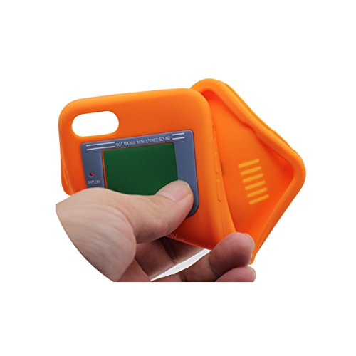 iPhone 7 Coque, Mince et léger Prime Doux Silicone Plastique Original Classique Game Boy 3D Forme Serie Housse de Protection Case Anti Choc pour Apple iPhone 7 4.7 inch orange