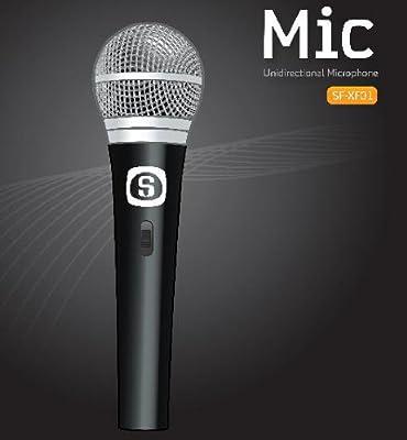 Sunfly Corded Dynamic Uni-Directional Microphone - Vocal/Singer/DJ/Karaoke
