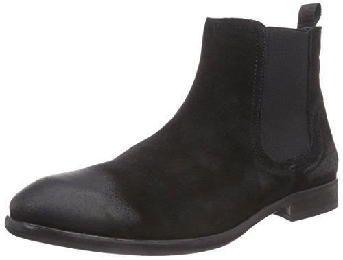 Hudson London Entwhistle, Herren Chelsea Boots, Schwarz (Black), 42 EU