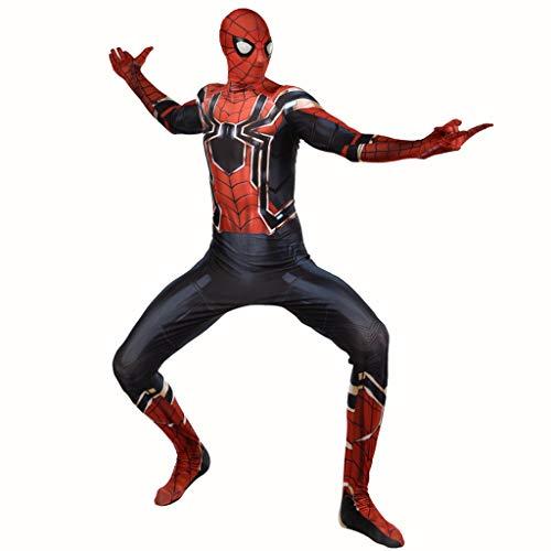 Kostüm Schwarze Kleinkind Spiderman - YKJL Erwachsene Film Cosplay Kostüm Spider-Man Overall 3D Druck Spinne Muster Body Halloween Marvel Spiderman Kostüm Kleidung,Schwarz,XXL
