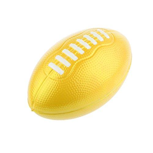 Bambini Palla PU Football Americano All'aria Aperta Schiuma Giochi Di Sport Giallo 12cm