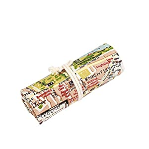 Lona Lápiz envuelve la caja, los lápices llevan a cabo para 72 lápices coloreados, mapa pequeño, 72 agujeros