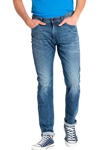 Lee Herren Slim Jeans Rider, Blau (Blue Days Ib), W33/L32 -