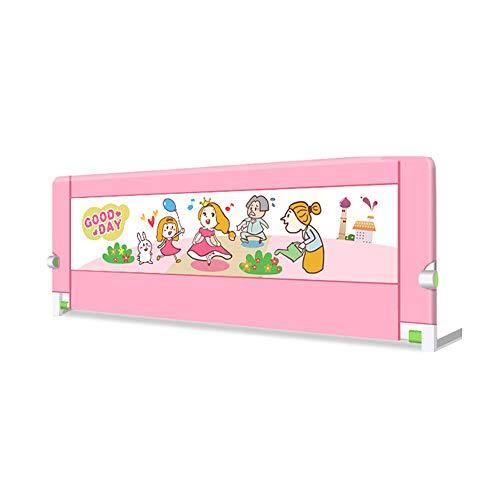 Preisvergleich Produktbild Bettgitter JY Kleinkinder,  Sicherheits-Faltbett,  tragbare Stop Fallschutz Fallschutz Schutzzaun 70cm Höhe Rosa (größe : 1.5m)